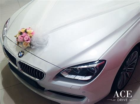 BMW 640i Wedding Car Decorations