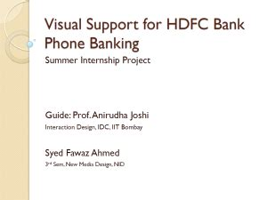 hdfc bank contact interaction design syed fawaz ahmed