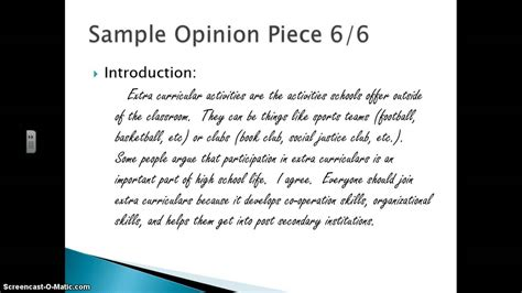 News Report Template Osslt Sle Opinion Essays Opinion Essay Outline Co Importance