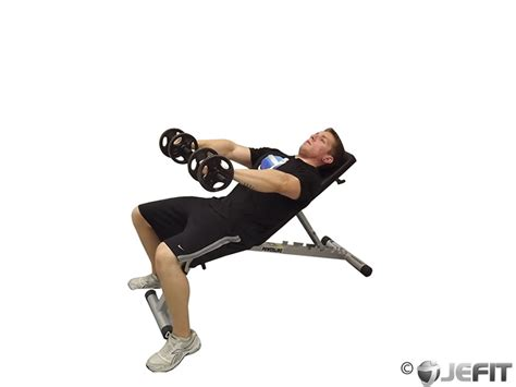 incline bench back exercises dumbbell front incline raise exercise database jefit