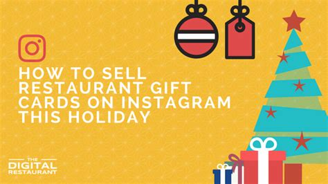 how to sell restaurant gift cards on instagram the digital restaurant - How To Sell Restaurant Gift Cards