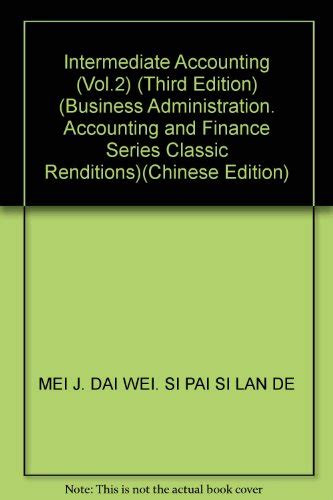 intermediate accounting 2nd edition books intermediate accounting vol 2 third edition business