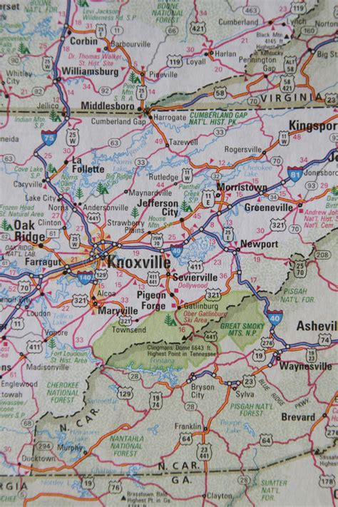 map of east tennessee map of east tn west carolina stock photo image of