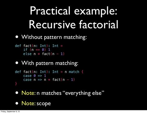pattern matching scala else intro to pattern matching in scala