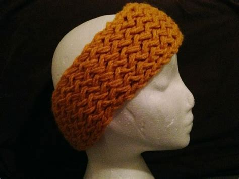 free pattern loom knit and weights on pinterest loom knit reversible chunky headband double knitted