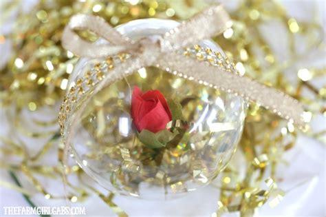 beauty   beast enchanted rose ornament homemade