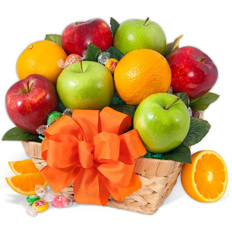 christmas fruit basket gift by gourmetgiftbaskets com
