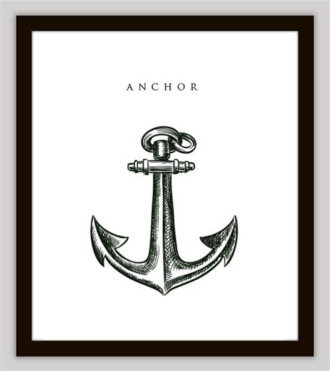 Anchor Home Decor | anchor nautical home decor wall art by printsofbeauty on etsy
