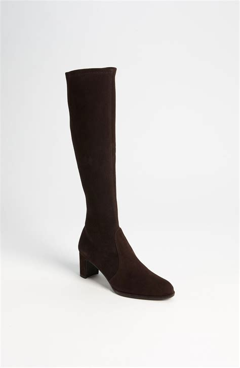 stuart weitzman chic boot stretch boot in black cola