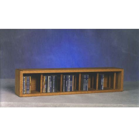 Wall Mounted Cd Rack by Wood Shed Solid Oak Wall Mount Cd Racks Tws 103d 3