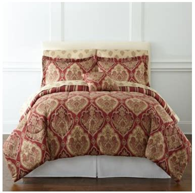 jcpenney bedding sale stafford 7 piece complete bedding set with sheets for 33