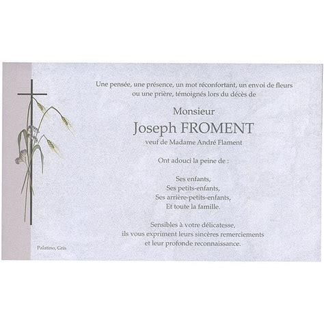 Exemple Lettre De Remerciement Condoleances Carte De Remerciement D 233 C 233 S Deuil 233 Railles