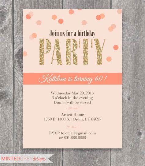 printable birthday decorations for adults adult birthday invitations 35 pretty exles jayce o yesta