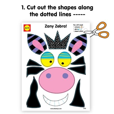 Zebra Paper Plate Craft - make a zany zebra and cow with paper plates and this