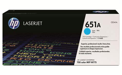 Hp Cyan Toner 651a Ce341a hp 651a cyan original laserjet toner cartridge ce341a