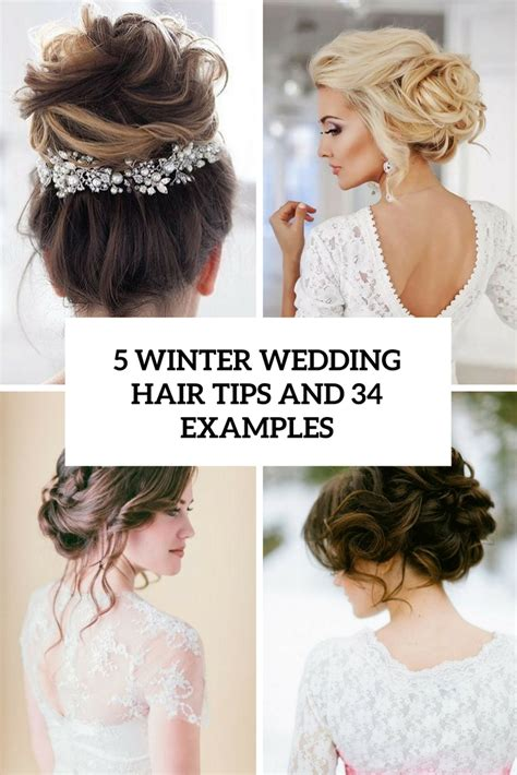 Wedding Hairstyles For Winter by 5 Winter Wedding Hair Tips And 34 Exles Weddingomania