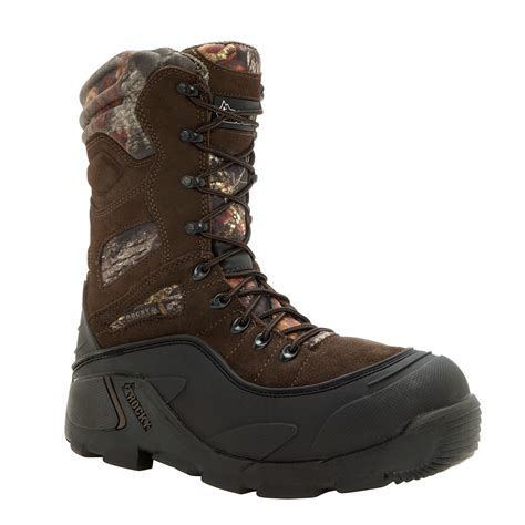 mens insulated snow boots rocky mens brown leather blizzardstalker pro insulated