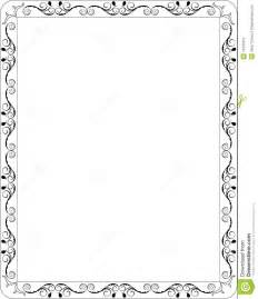 blank floral frame border stock photo image 15232010