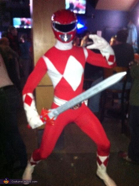 red mighty morphin power ranger costume photo