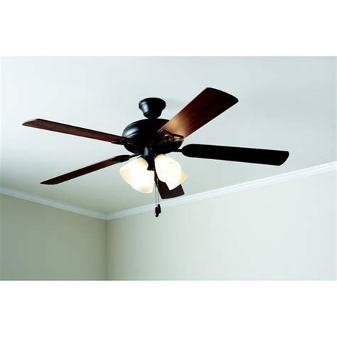 mainstays ceiling fan mainstays 52 quot ceiling fan with light kit bronze