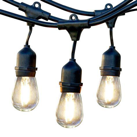 light bulbs on a string light string cafe 48ft black