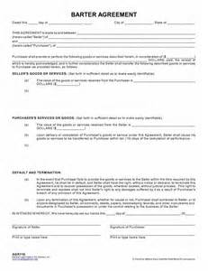 Barter Contract Template by Barter Agreement Nevada Forms Tax Services Inc