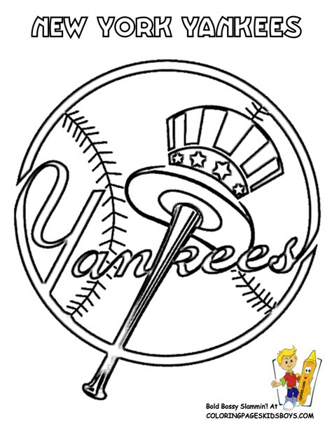 Major League Baseball Mlb Coloring Pages Mlb Logo Coloring Pages