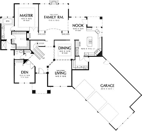 formal plan with angled garage 69353am architectural formal plan with angled garage 69353am 1st floor