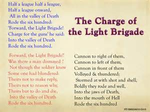 the charge of the light brigade form 4 2015 pdf