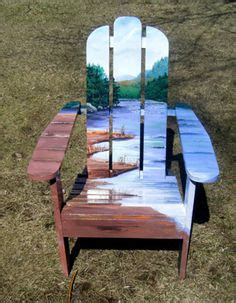 artist punches in chair tropical adirondack chair handcrafted painted