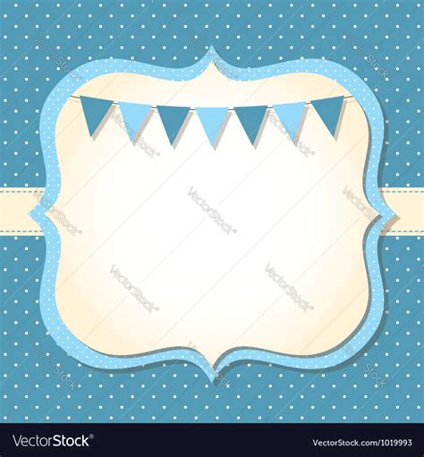 Template Baby Boy Card by Baby Boy Arrival Card Royalty Free Vector Image
