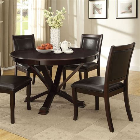 dreamfurniture osbert espresso finish dining table set