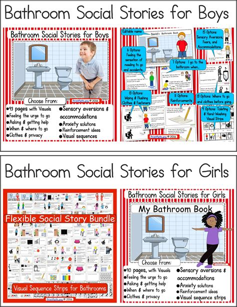 using the bathroom social story evidence based practice visual activity schedules your