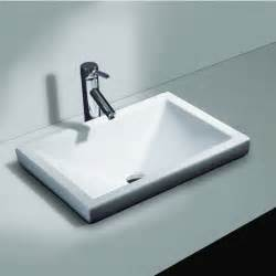 Semi recessed bathroom sink with free shipping kitchensource com