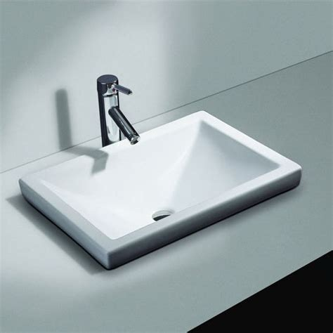 cantrio koncepts vitreous china semi recessed bathroom