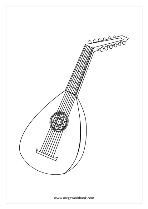 wind instruments coloring pages woodwind instrument coloring pages printable woodwind