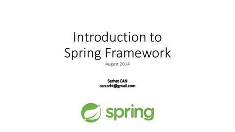 introduction to spring data ppt download introduction to spring framework