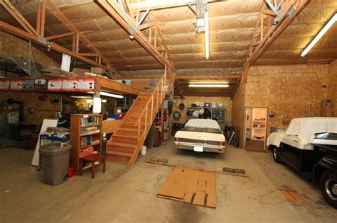 shop with loft storage loft in garage garage shop man cave pinterest