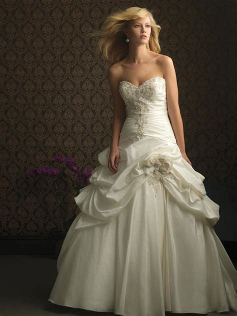 Ivory Wedding Gown ivory strapless taffeta designer wedding dress