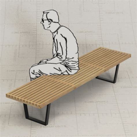 george nelson bench george nelson bench 3d model formfonts 3d models textures