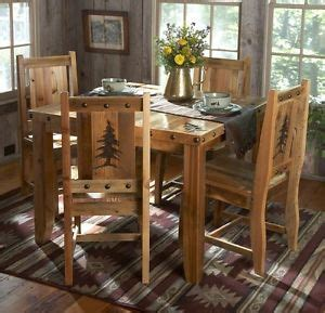 kitchen wood furniture rustic kitchen table set country western log cabin wood
