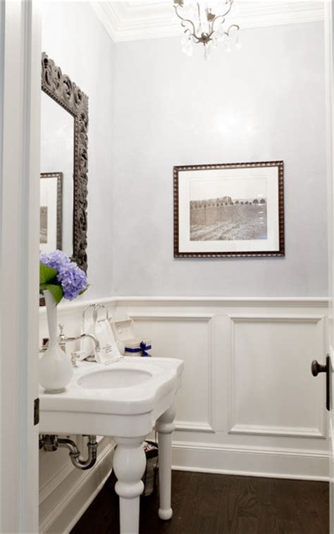 powder rooms with wainscoting my houzz iris dankner traditional powder room new