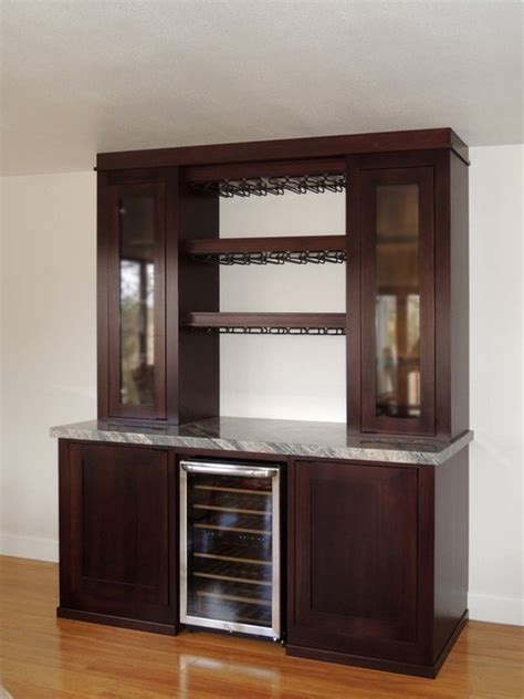 Decor Cabinet Company by Custom Beverage Center Traditional Family Room