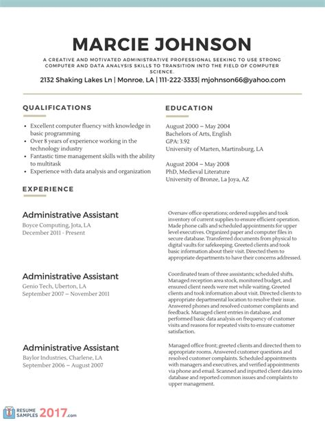 Resume Exles 2017 Simple Resume Template 2017 Resume Builder