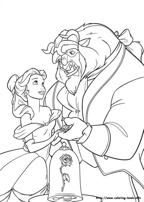 disney beauty and the beast coloring pages to print walt disney characters images walt disney coloring pages