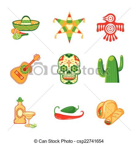 vecteur clipart de mexicain ic 244 nes colorful culture