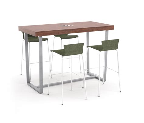 Bar Height Meeting Table Parma Bar Height Table Angled Metal Table Standing Meeting Tables From Erg International