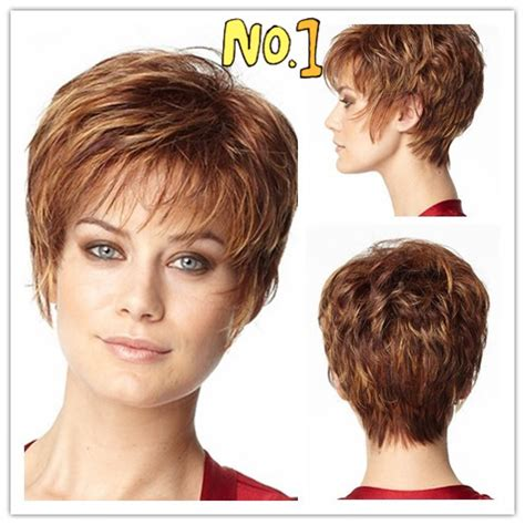 womens short hairstyles no bangs pixie cut hairstyle women synthetic wigs short hair brown