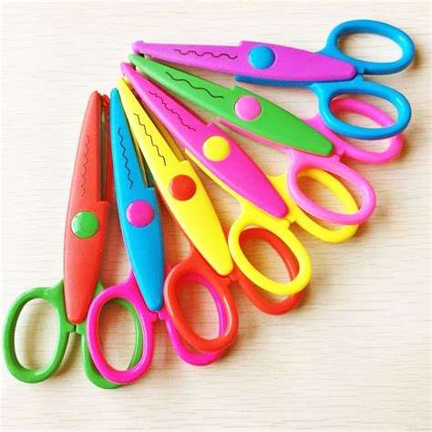 Paper And Scissors Crafts - aliexpress buy 6pcs per set diy craft scissors wave