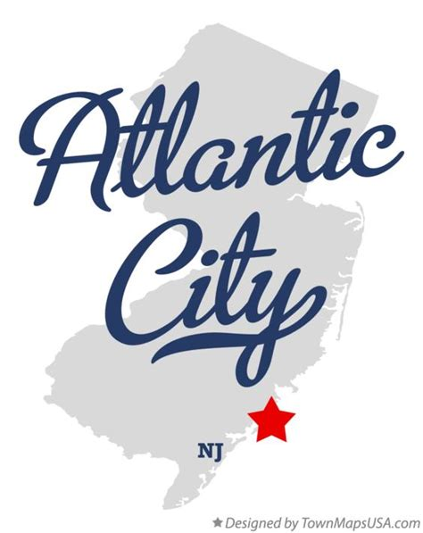 map of atlantic city nj map of atlantic city nj new jersey